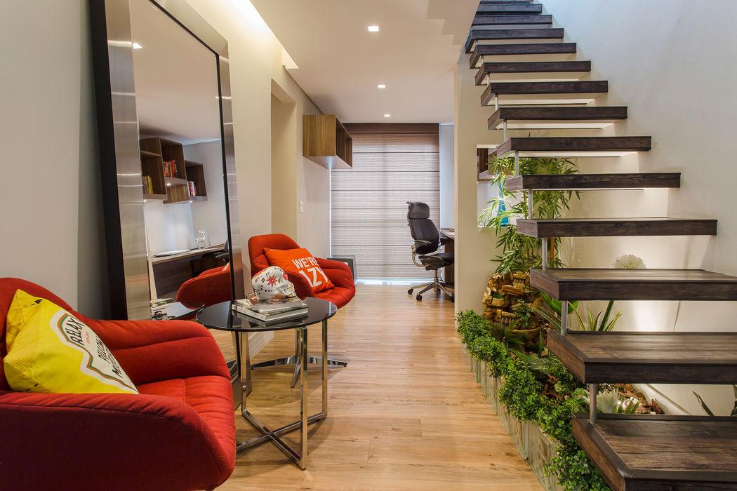 Brooklin Lo. interiores Corredores, halls e escadas modernos