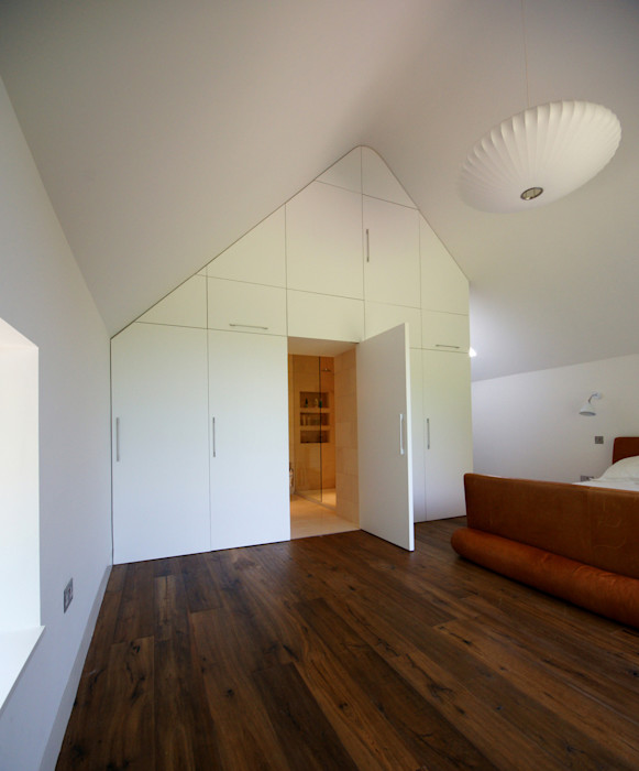 Veddw Farm, Monmouthshire Hall + Bednarczyk Architects Modern style bedroom