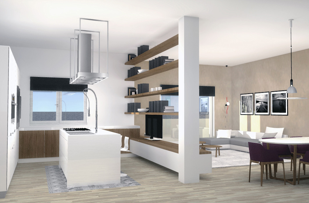 Appartamento privato_Genova_2014 Valentina Cassader Soggiorno moderno