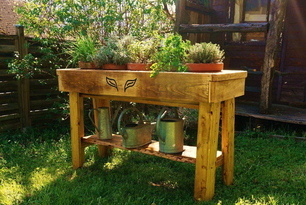 Jardiniere bois Jardin boheme JardinFleurs & Plantes
