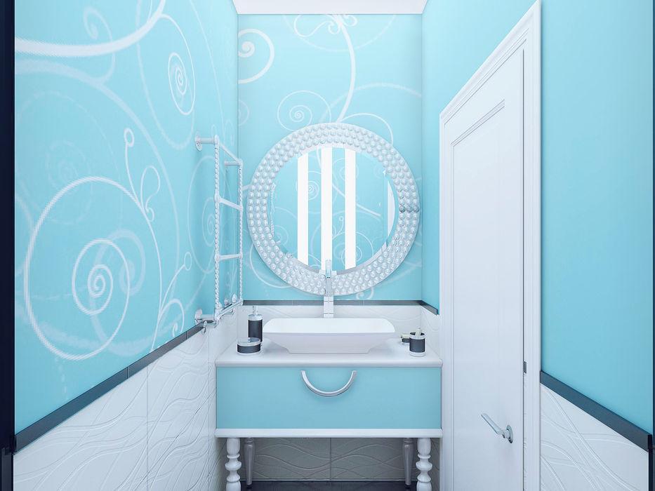 Двух этажная квартира 82 кв.м. Ольга Рыбалка Ванная комната в эклектичном стиле