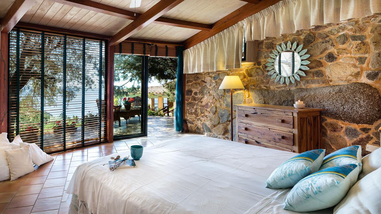 Interior Design Mario Marino Camera da letto in stile rustico