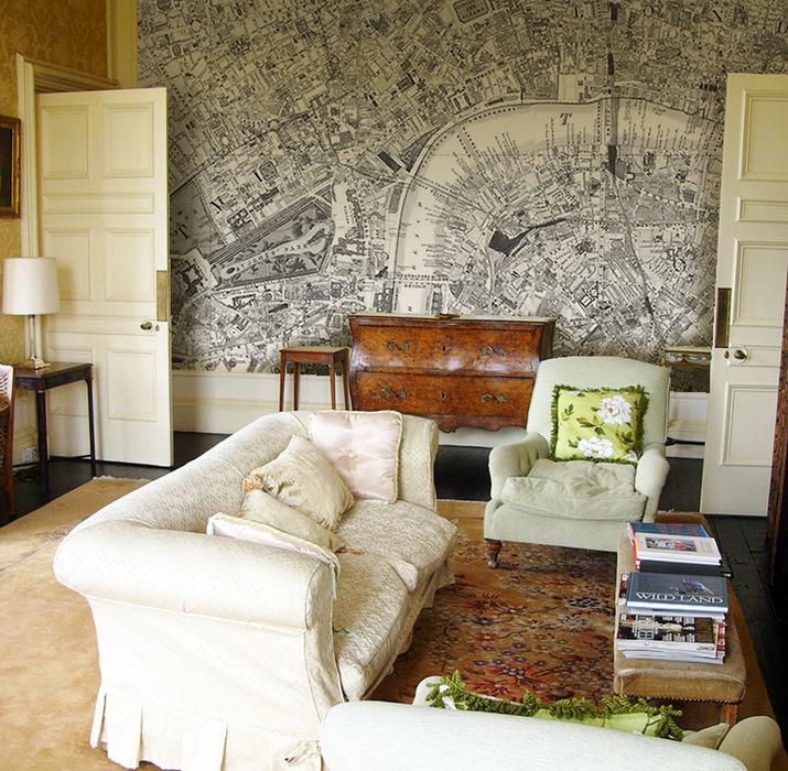 Custom Victorian Street Map Wallpaper Love Maps On Ltd. Стіни & ПідлогиШпалери
