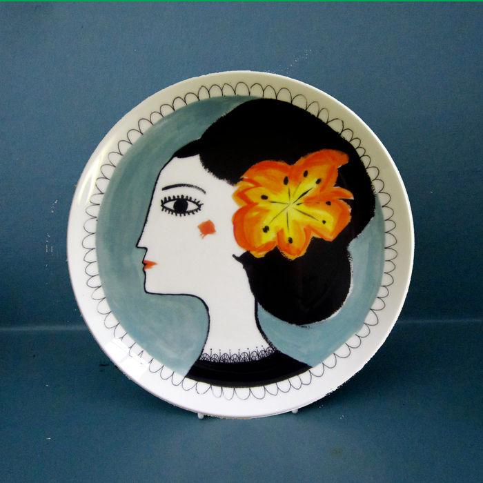 Orange flower Katy Leigh KitchenCutlery, crockery & glassware