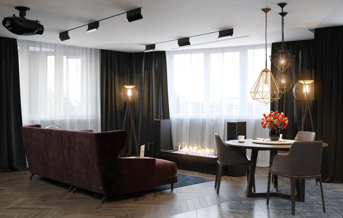 Verge of luxury SVAI Studio Гостиные в эклектичном стиле