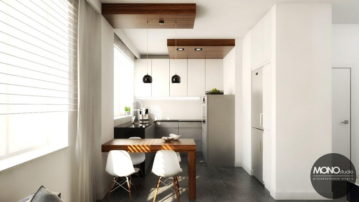 Urocze mieszkanie zaaranżowane w nowoczesnym stylu MONOstudio Nowoczesna kuchnia