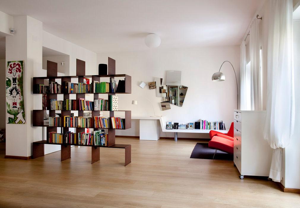 Casa T MAT architettura e design Soggiorno moderno