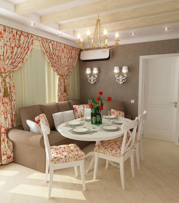 "Двухкомнатная квартира в жилом комплексе ""Алиса"" Design Rules Гостиная в стиле кантри"