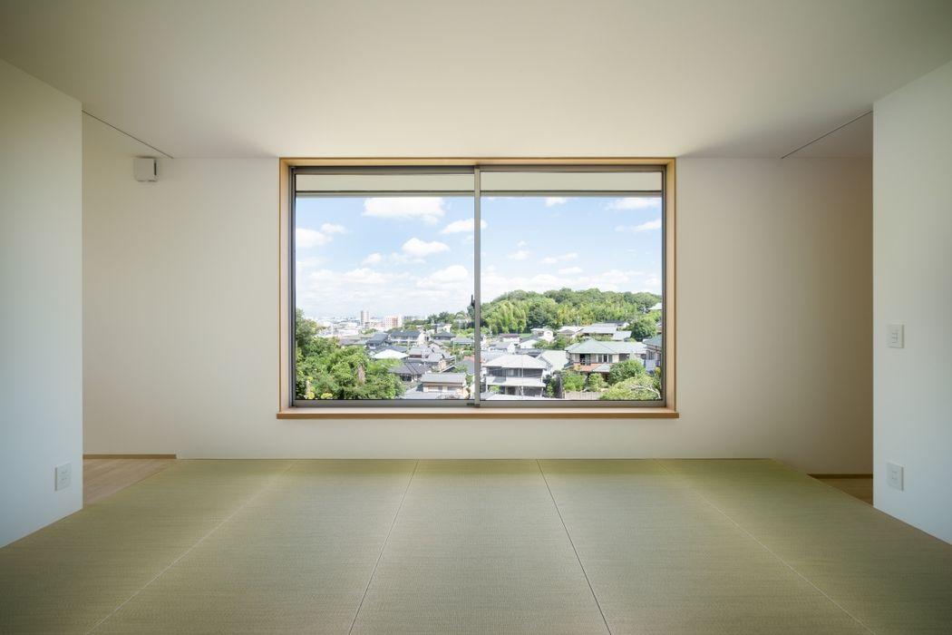 市原忍建築設計事務所 / Shinobu Ichihara Architects Modern living room Natural Fibre White