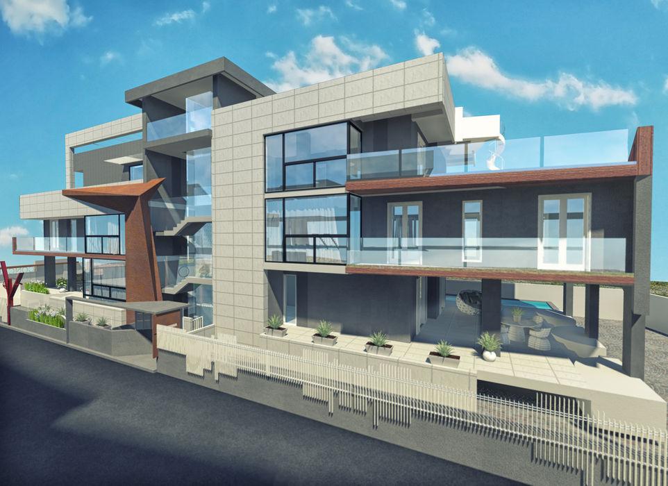 a5studio Casas de estilo moderno