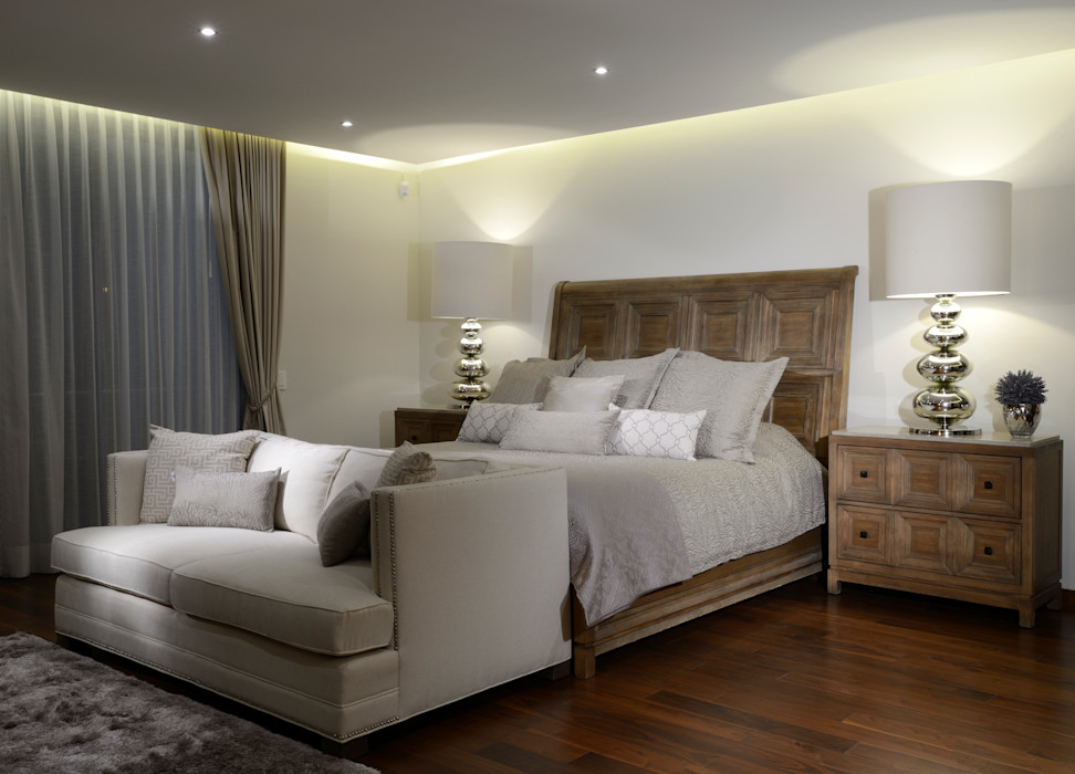 Recamara Principal Casa GL homify Dormitorios modernos Madera Beige
