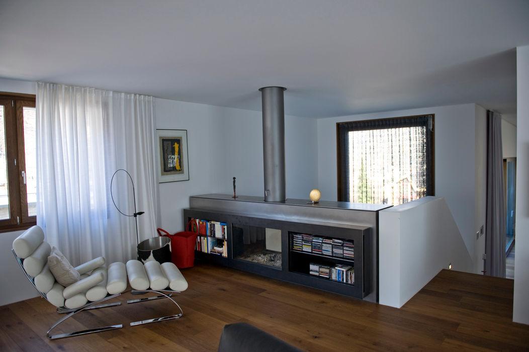 EFH Grand bw1 architekten Moderne Wohnzimmer