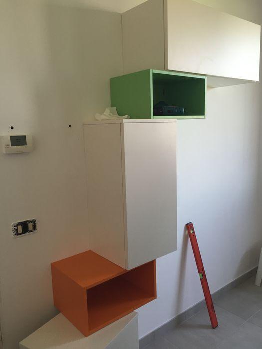 work in progress soggiorno in openspace Arreda Progetta di Alice Bambini Soggiorno moderno Verde