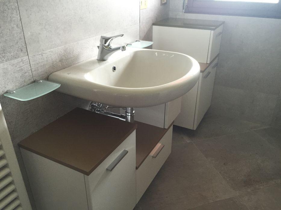 restiling bagno con piastrelle stile coloniale Arreda Progetta di Alice Bambini Bagno moderno