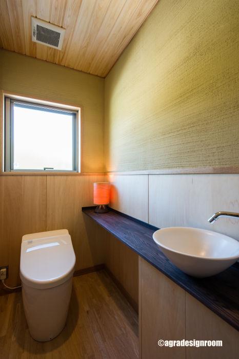 少しリッチで和モダンで、衛生的なトイレ アグラ設計室一級建築士事務所 agra design room モダンスタイルの お風呂