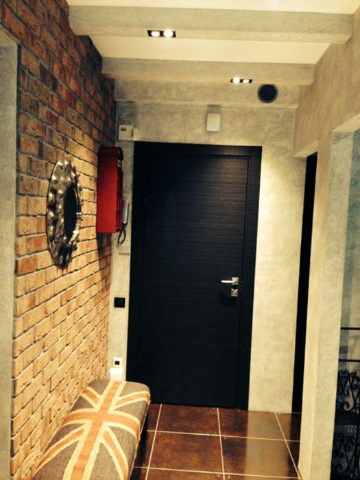 Квартира на Ярославском Valeria Ganina Коридор, прихожая и лестница в стиле лофт