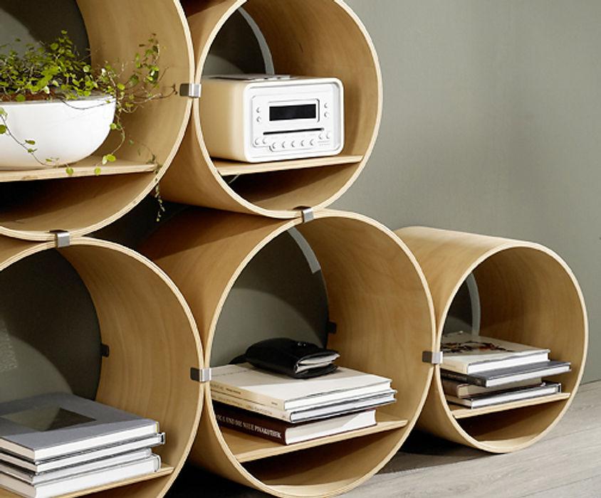 Flexi Tube Nature Kißkalt Designs ArbeitszimmerSchränke und Regale Holz