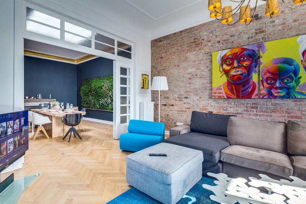 Jugendstil Wohnung/ Endetage/ Harvestehude/ Hamburg / Living-Room homify Moderne Esszimmer