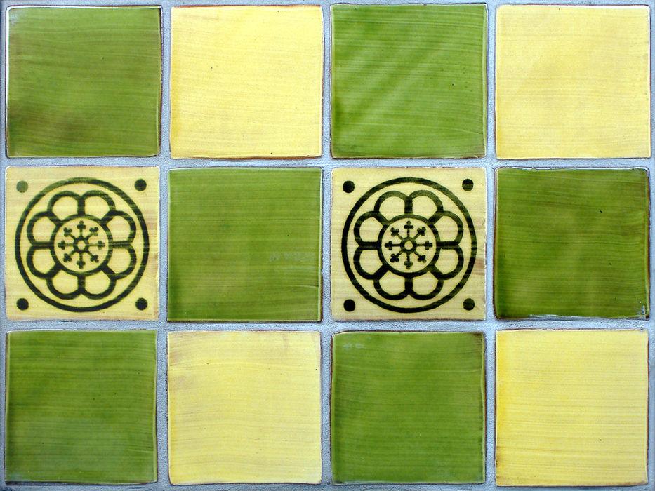 Green & Yellow Wall Tiles Deiniol Williams Ceramics Walls & flooringTiles Ceramic