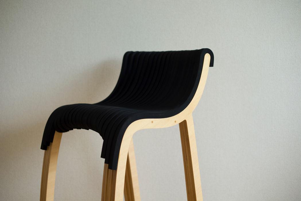 wirechair Design of Engineering and Fabrication / wip 勉強部屋/オフィス椅子 木 木目調