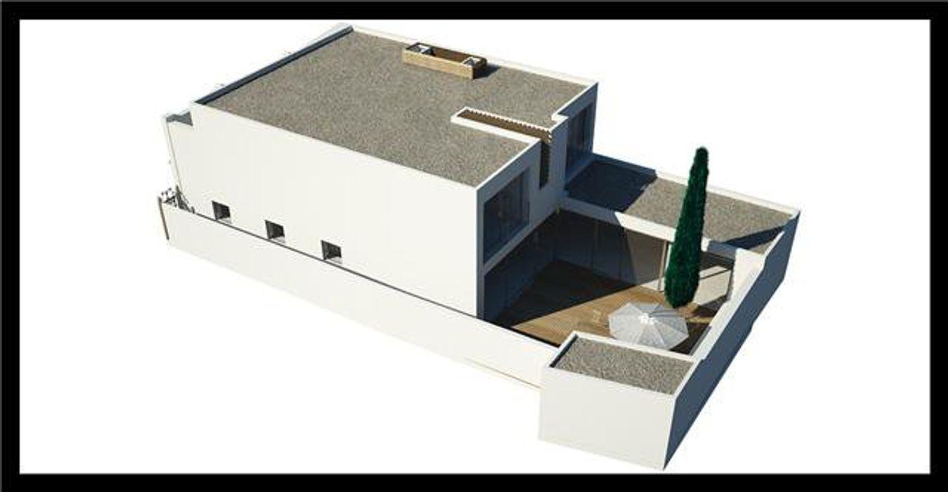 Projeto de Restauro e Ampliação Mendonça Santos Arquitetos & Associados Casas modernas