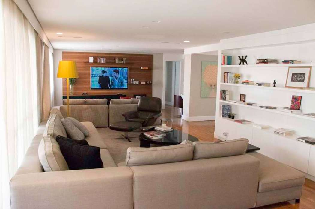 Living 1 MONICA SPADA DURANTE ARQUITETURA Salas de estar modernas