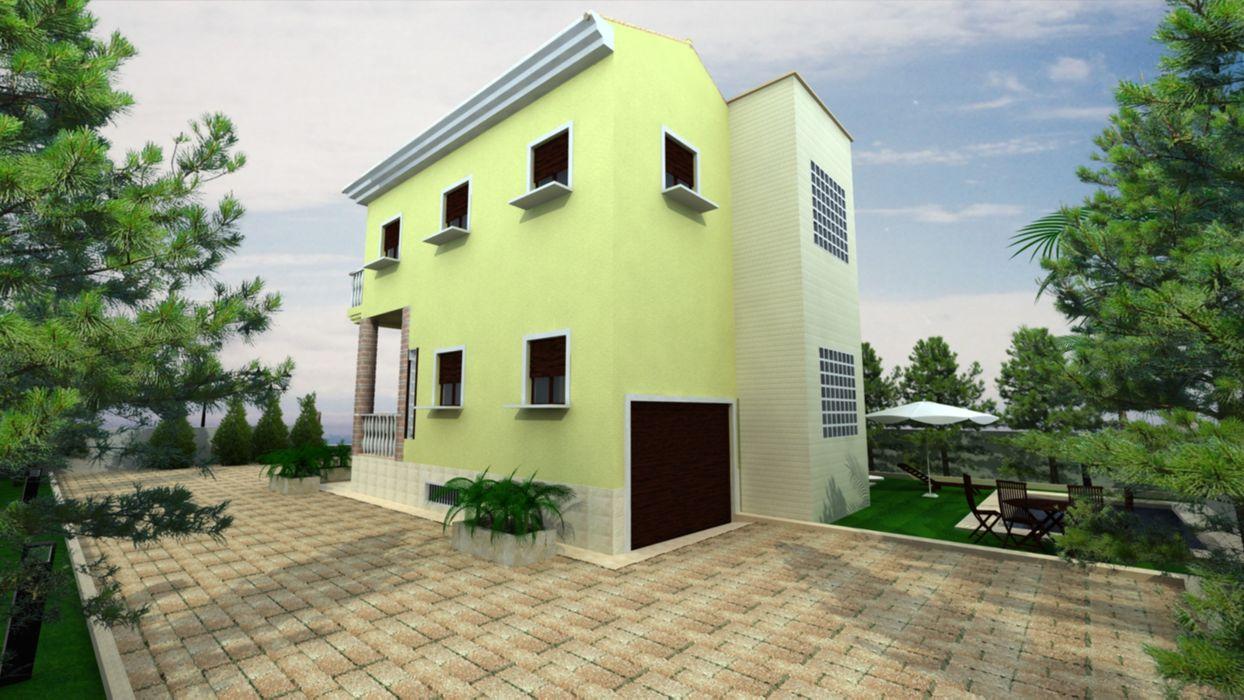 Infografía. Exterior y Fachada. Vivienda Unifamiliar en el Mahimón. IND-INGENIEROS Casas estilo moderno: ideas, arquitectura e imágenes