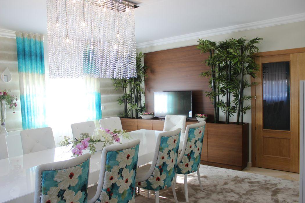 Andreia Louraço - Designer de Interiores (Email: andreialouraco@gmail.com) Comedores de estilo moderno Bambú Azul