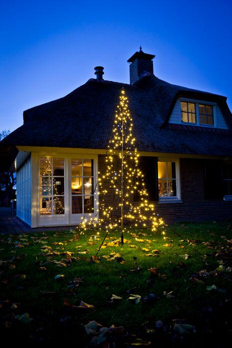 XMAS TREE 3M 360LEDs SOLAR Lighting - Powered by Nature! OgródOświetlenie Żelazo/Stal Biały