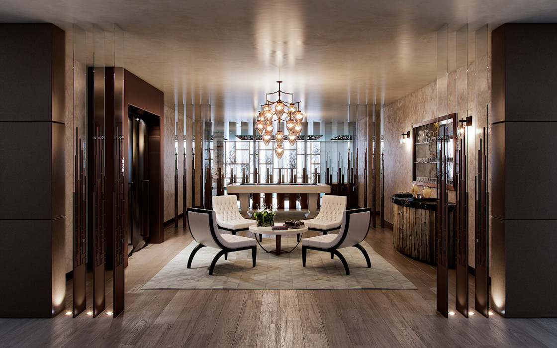 Folio Design | The Cricketers | Club Room Folio Design Modern study/office