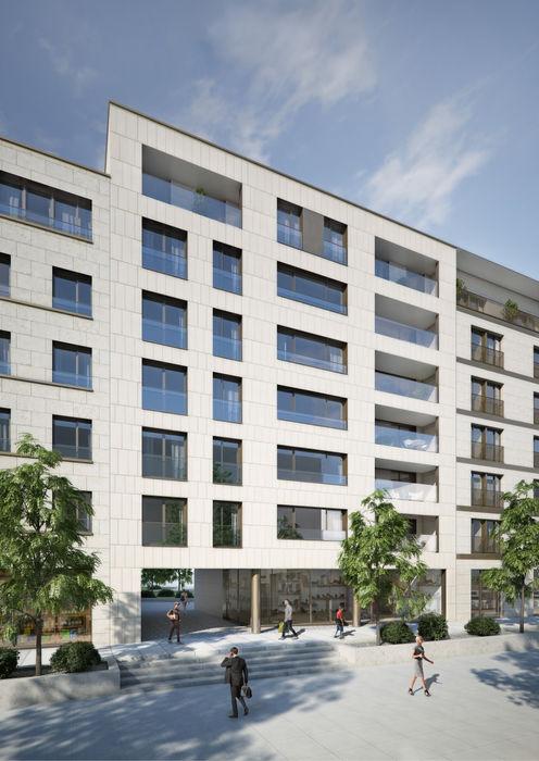 Wohn- und Geschäftsgebäude in Luxemburg winhard 3D Moderne Häuser