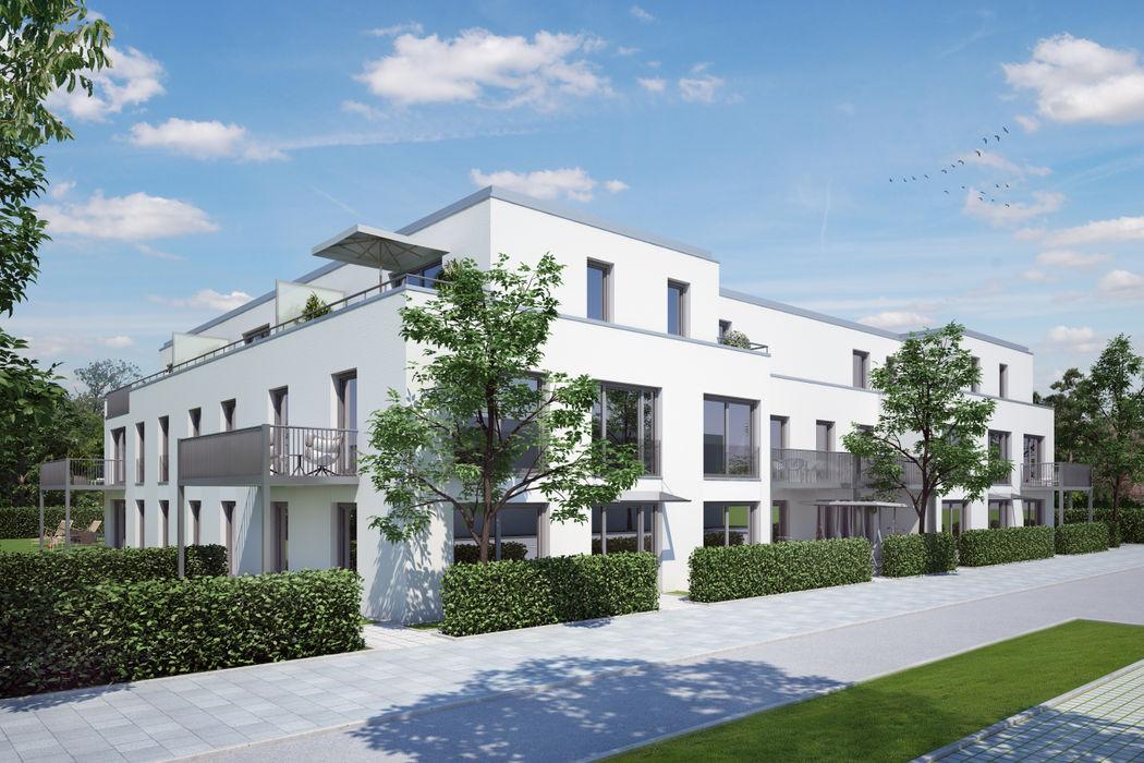 Wohnbebauung in München winhard 3D Moderne Häuser
