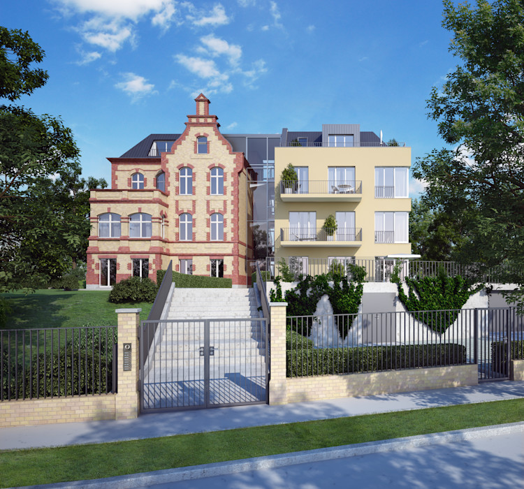Anbau Wohnhaus bei Berlin winhard 3D Moderne Häuser