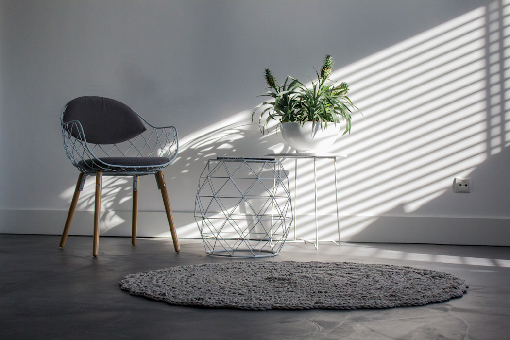 Woonbeton - Cementgebonden gietvloer Motion Gietvloeren Moderne woonkamers Grijs