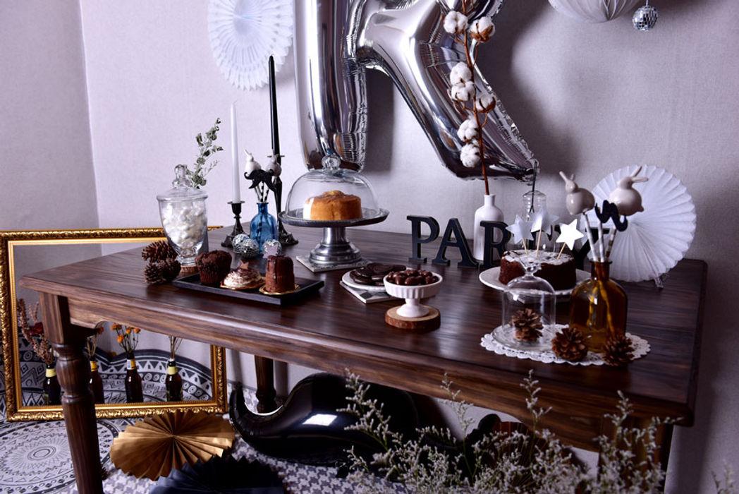 모던블랙 파티세트 partybuckett 가정 용품Accessories & decoration