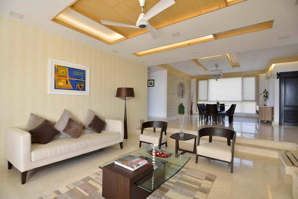 J. P. GREENS FLAT Spaces Architects@ka Modern living room