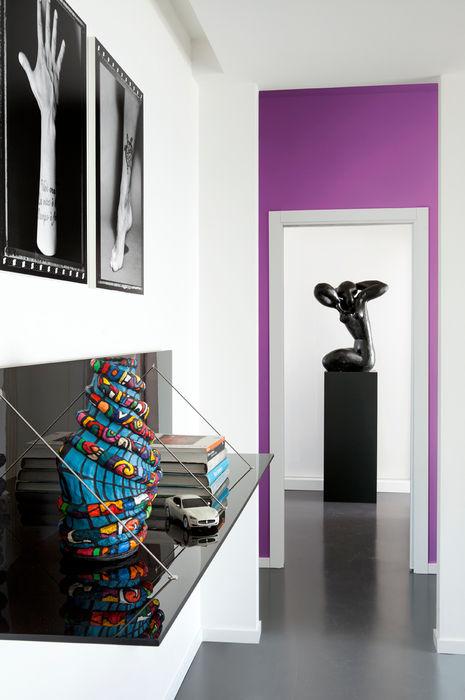 Corridoio PDV studio di progettazione Ingresso, Corridoio & ScaleCassettiere & Scaffali Nero
