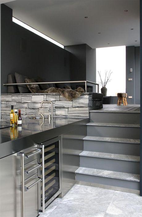 Arend Groenewegen Architect BNA Cucina moderna Granito Grigio