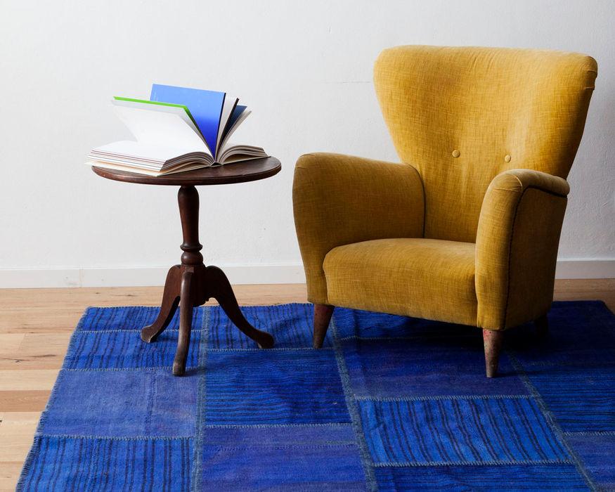 Alfombra Patchwork Kilim Tuana Sukhi.es LivingsDecoración y accesorios Algodón Azul