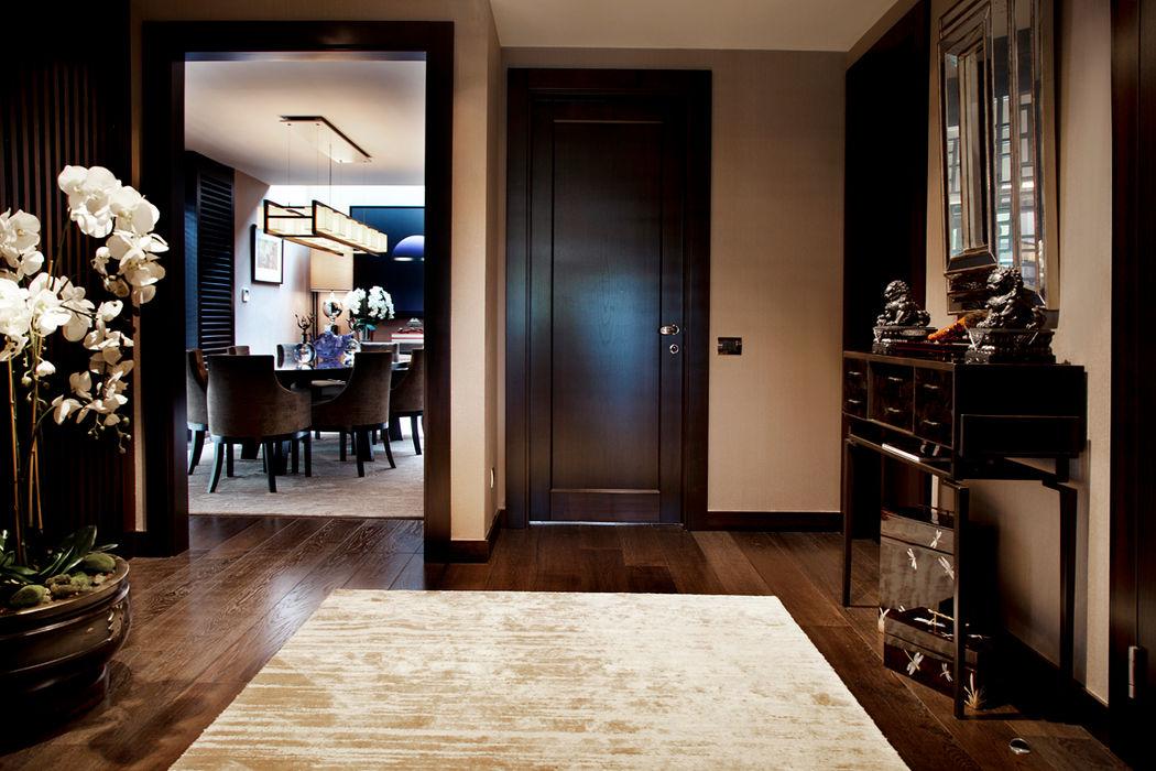 K.Ç EVİ Kerim Çarmıklı İç Mimarlık Modern Koridor, Hol & Merdivenler