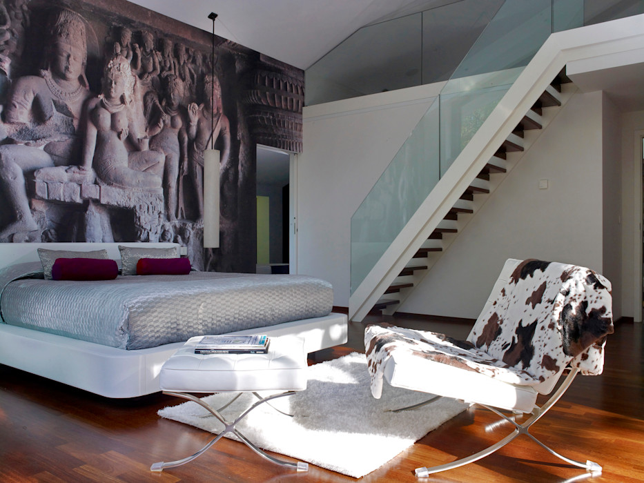 Living room Baufritz (UK) Ltd. Вітальня