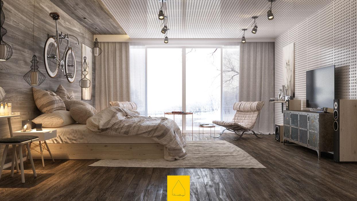 Bedroom No.2 Penintdesign İç Mimarlık Yatak OdasıYataklar & Yatak Başları