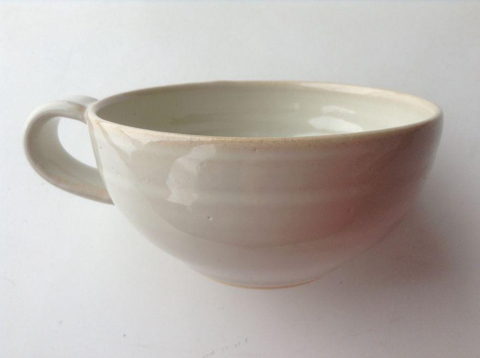 てとて×小久慈焼 オリジナルスープカップ<ホワイト> てとて 家庭用品家庭用品 陶器 ベージュ