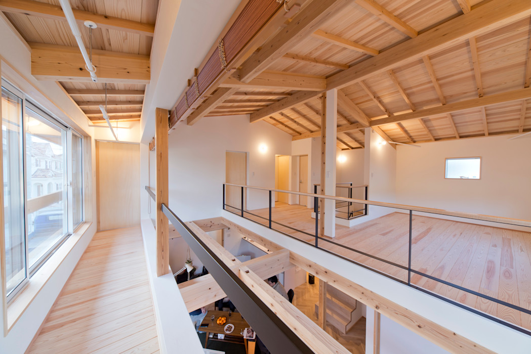 合同会社negla設計室 Scandinavian style balcony, veranda & terrace