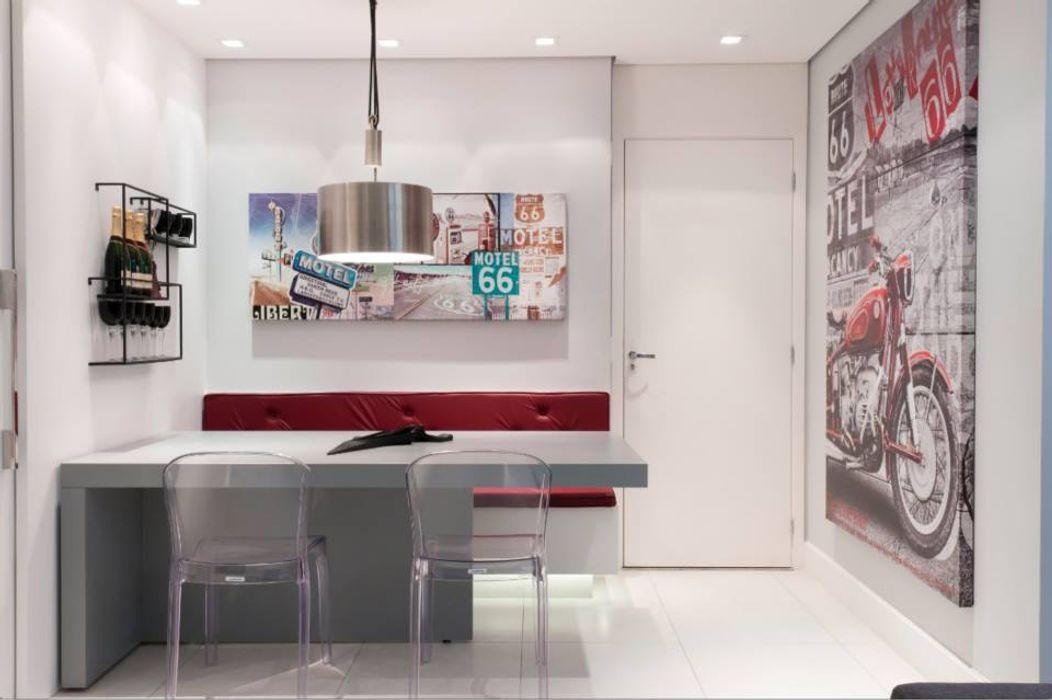 Alpha Park - Alphaville Estúdio Plano Salas de jantar modernas