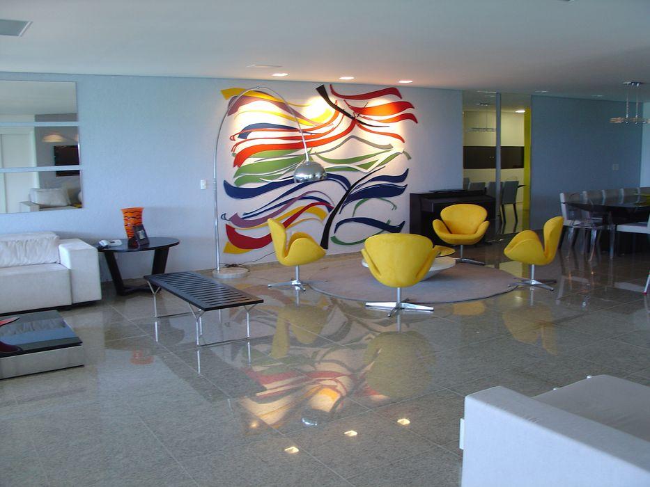 Painel sala de estar Complementto D Salas de estar modernas
