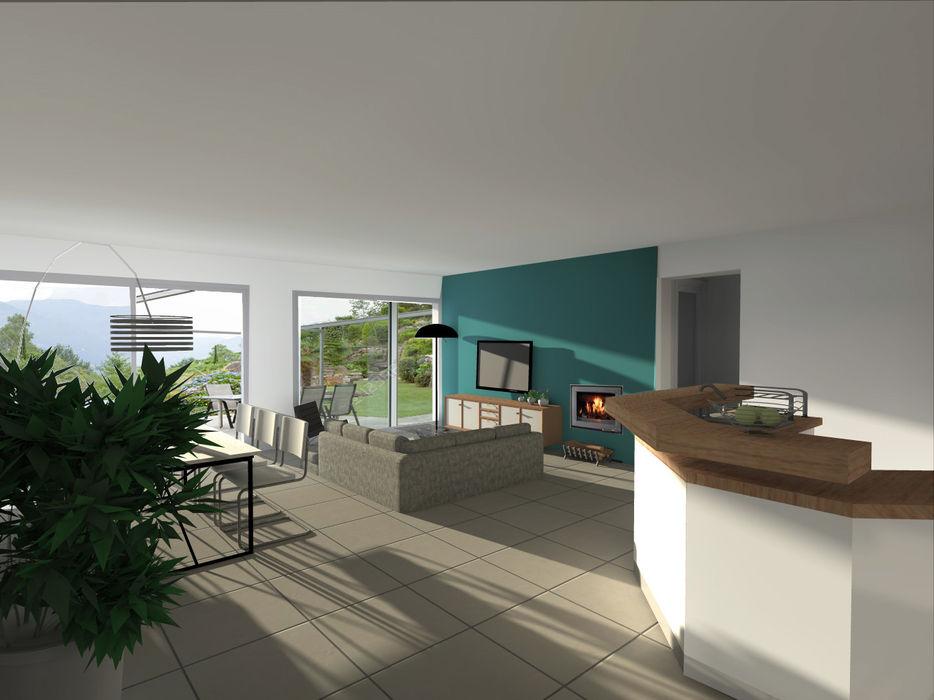 Rénovation d'une maison de ville homify Salon moderne