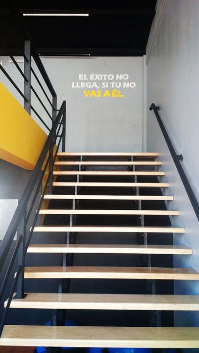 Gimnasio Bau-Art Taller de Arquitectura Gimnasios domésticos modernos Amarillo