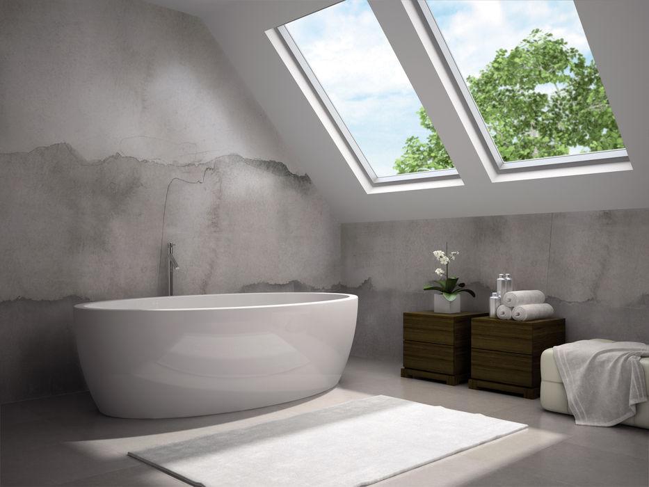 Wodoodporne tapety do kuchni i łazienek. Kolekcja H2O firmy Tecnografica BandIt Design Ściany i podłogiTapety Szary