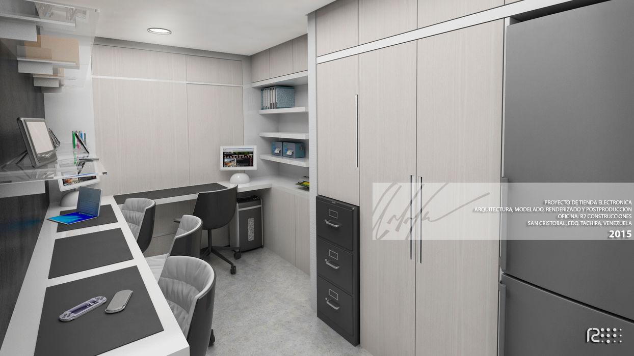 AREA DE SERVICIO TECNICO Arq.AngelMedina+ Oficinas y Tiendas Concreto Blanco